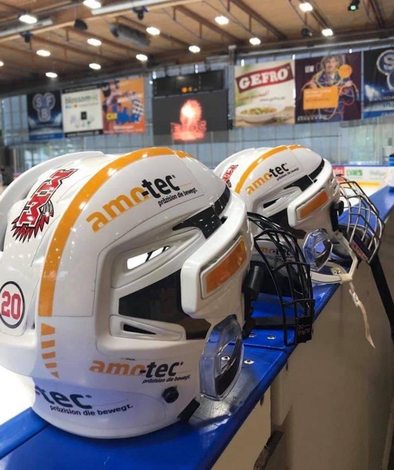 amo-tec is the helmet sponsor of the ECDC Memmingen women's ice hockey team
